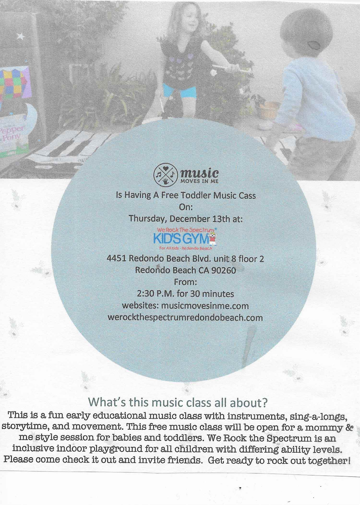 Music Moves In Me Wrts Redondo Beach