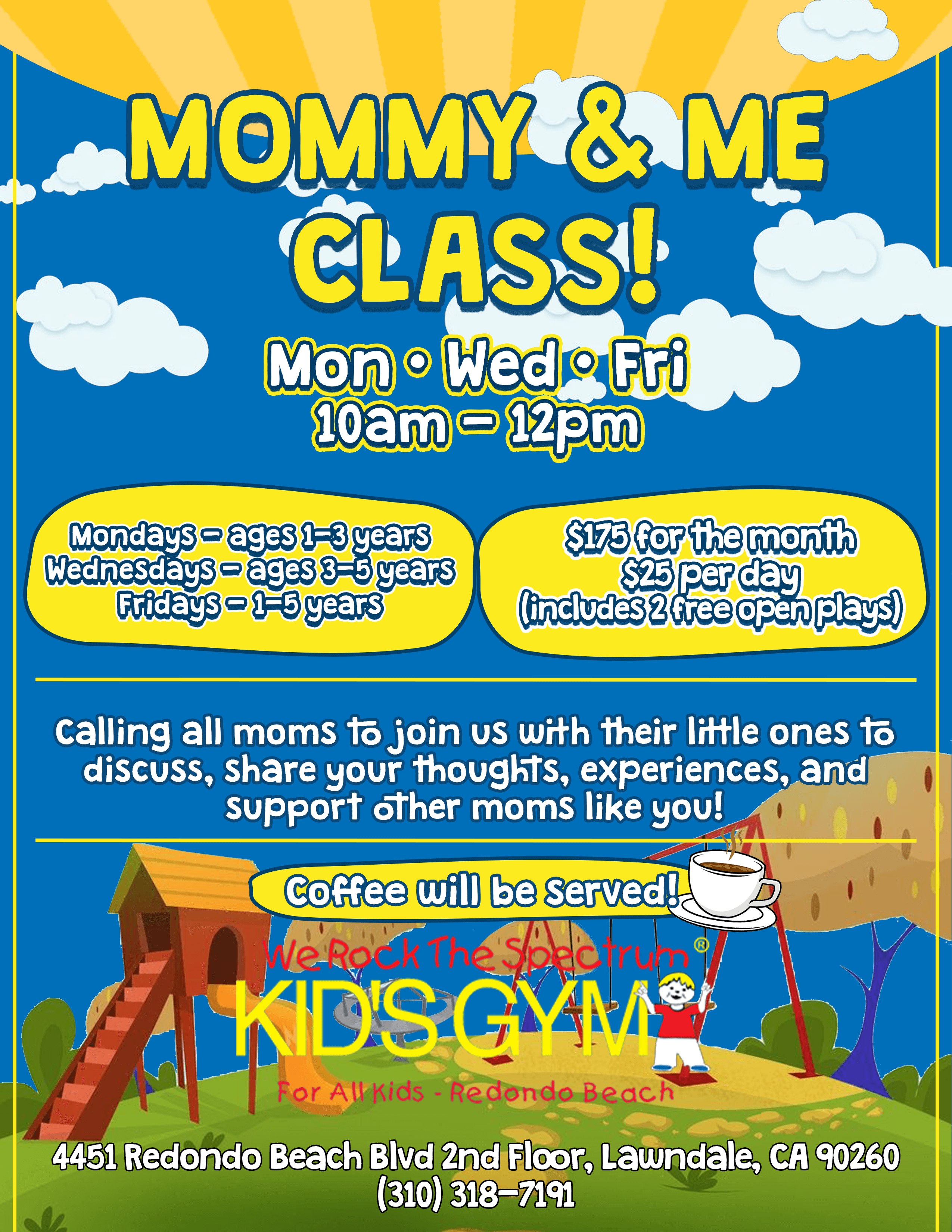 Mommy and Me Class Flyer